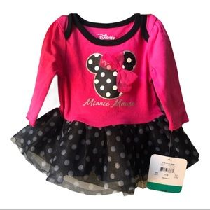 NWT Disney Baby Pink and Black Dress 0-3 months